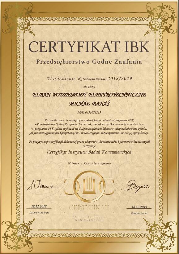 certyfikat przedsiębiorstwo godne zaufania